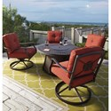 Signature Design by Ashley Burnella Outdoor Round Fire Pit Table