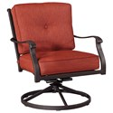 Signature Design by Ashley Burnella Outdoor Swivel Lounge Chair - Item Number: P456-821-C