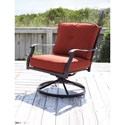 Signature Design by Ashley Burnella Set of 2 Outdoor Swivel Lounge Chairs