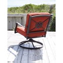 Signature Design by Ashley Burnella Outdoor Swivel Lounge Chair