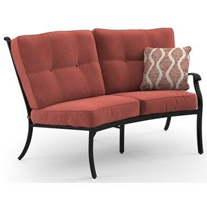 Signature Design by Ashley Burnella RAF Loveseat with Cushion