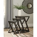 Signature Design by Ashley Cairnburg Contemporary Accent Table (Set of 3)