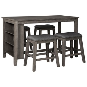 Five Piece Kitchen Island & Chair Set