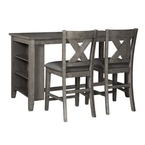 3 Piece Table and Stool Set