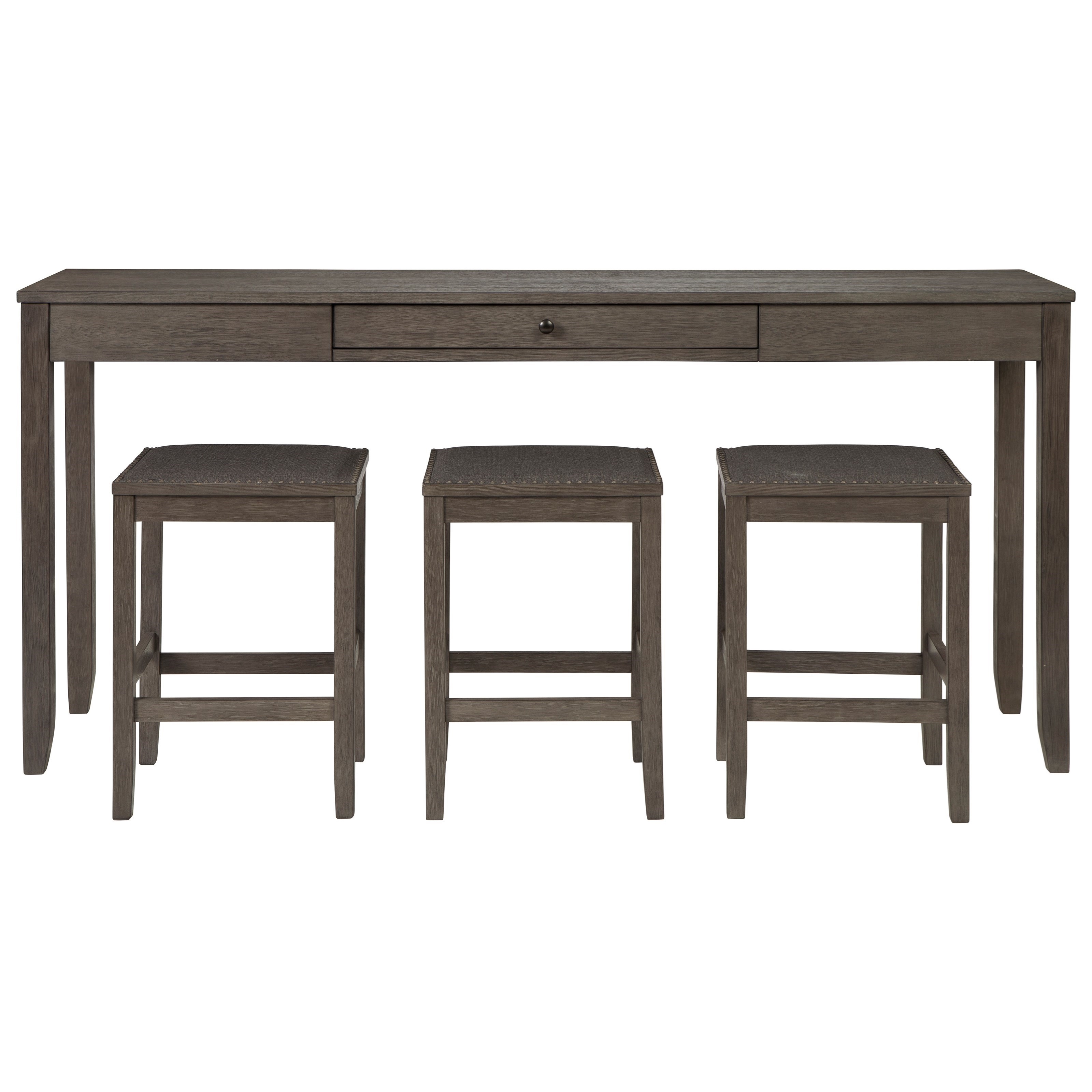 4-Piece Rectangular Counter Table Set