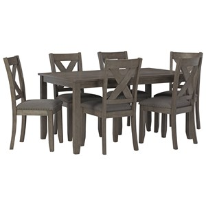 7-Piece Rectangular Dining Room Table Set