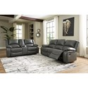 Signature Design by Ashley Calderwell Reclining Living Room Group - Item Number: 77103 Living Room Group 1