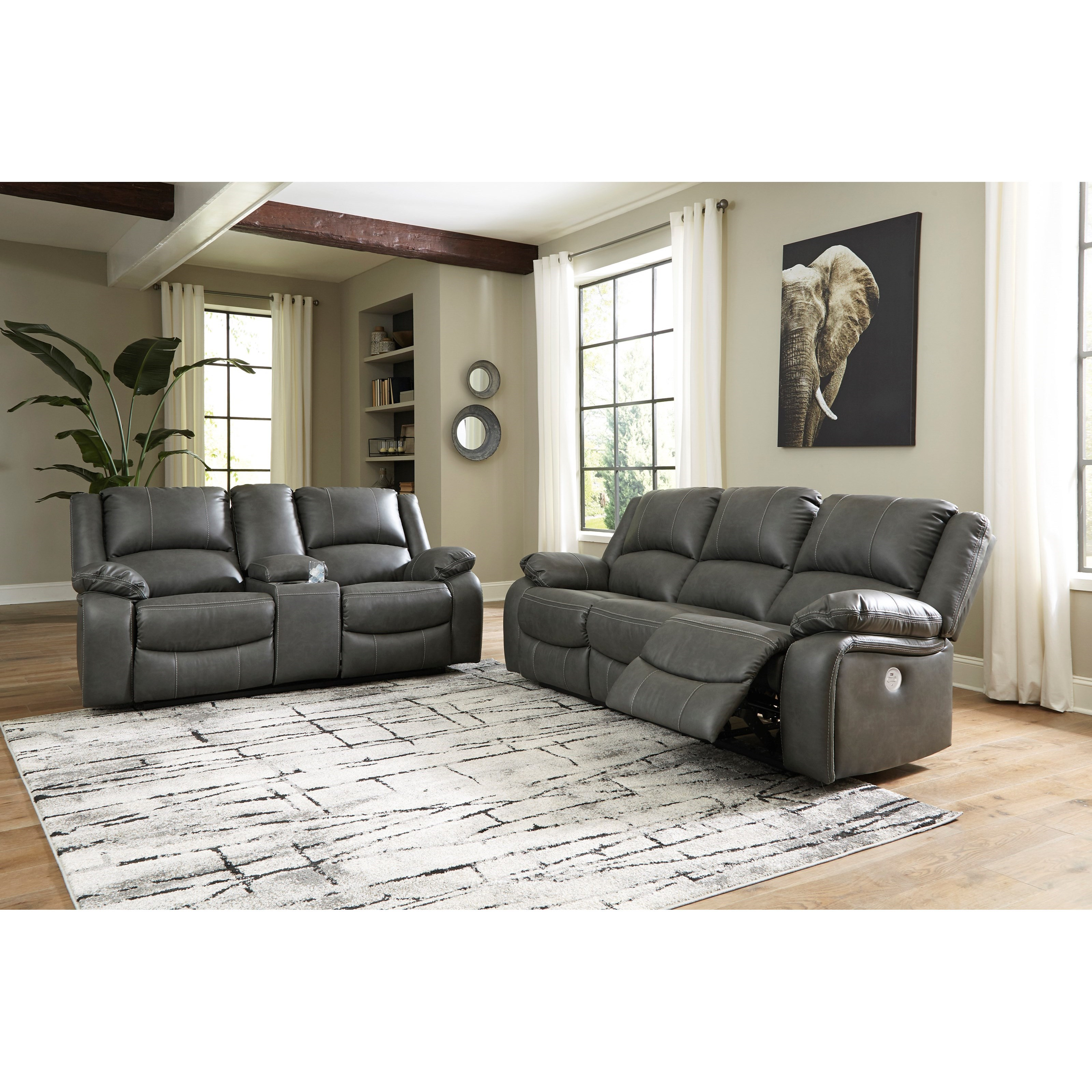 Calderwell Power Reclining Living Room Group at Van Hill Furniture