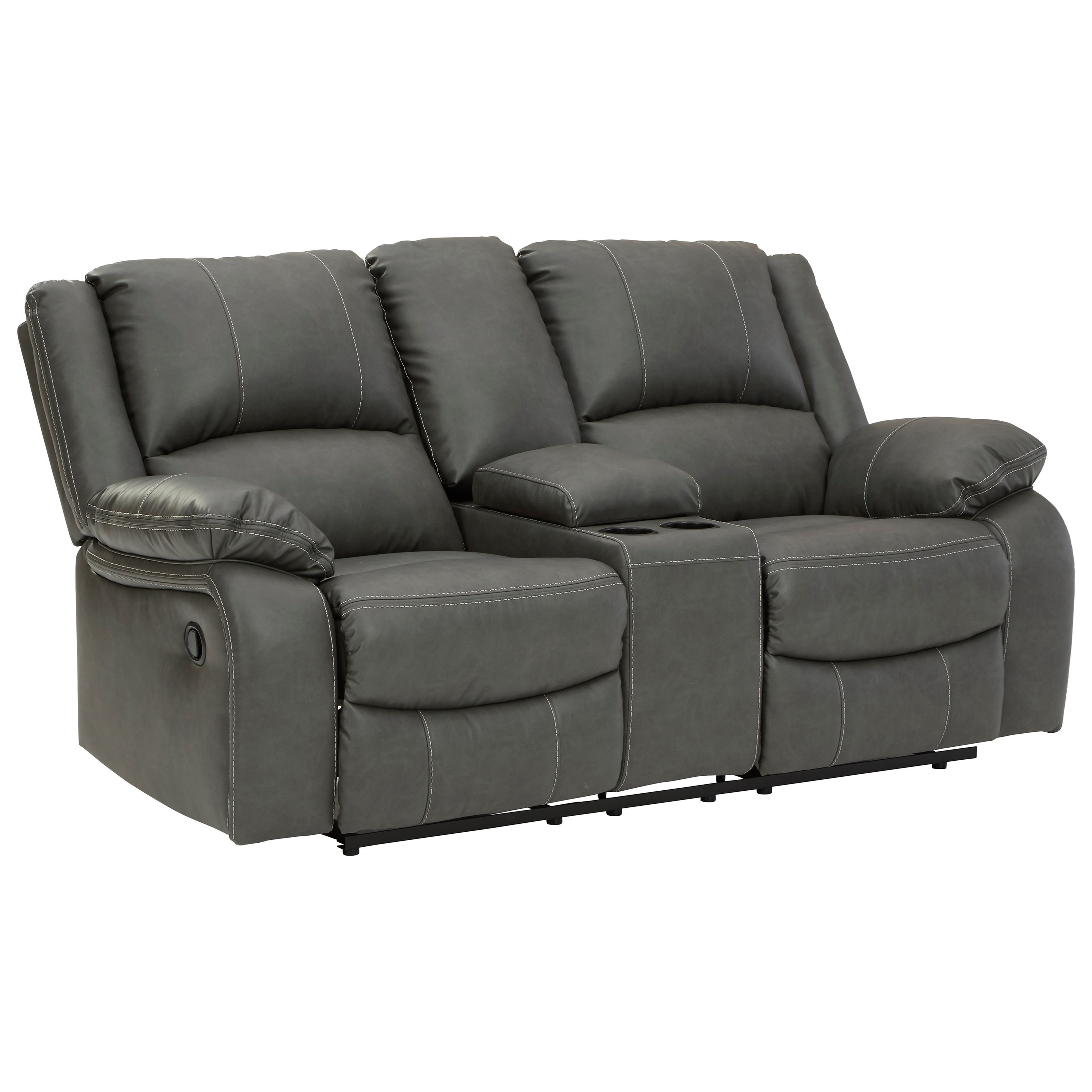 Double Rec Loveseat w/ Console