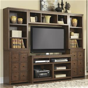 Signature Design by Ashley Callettsburg TV Stand with Pier Bases and Hutch