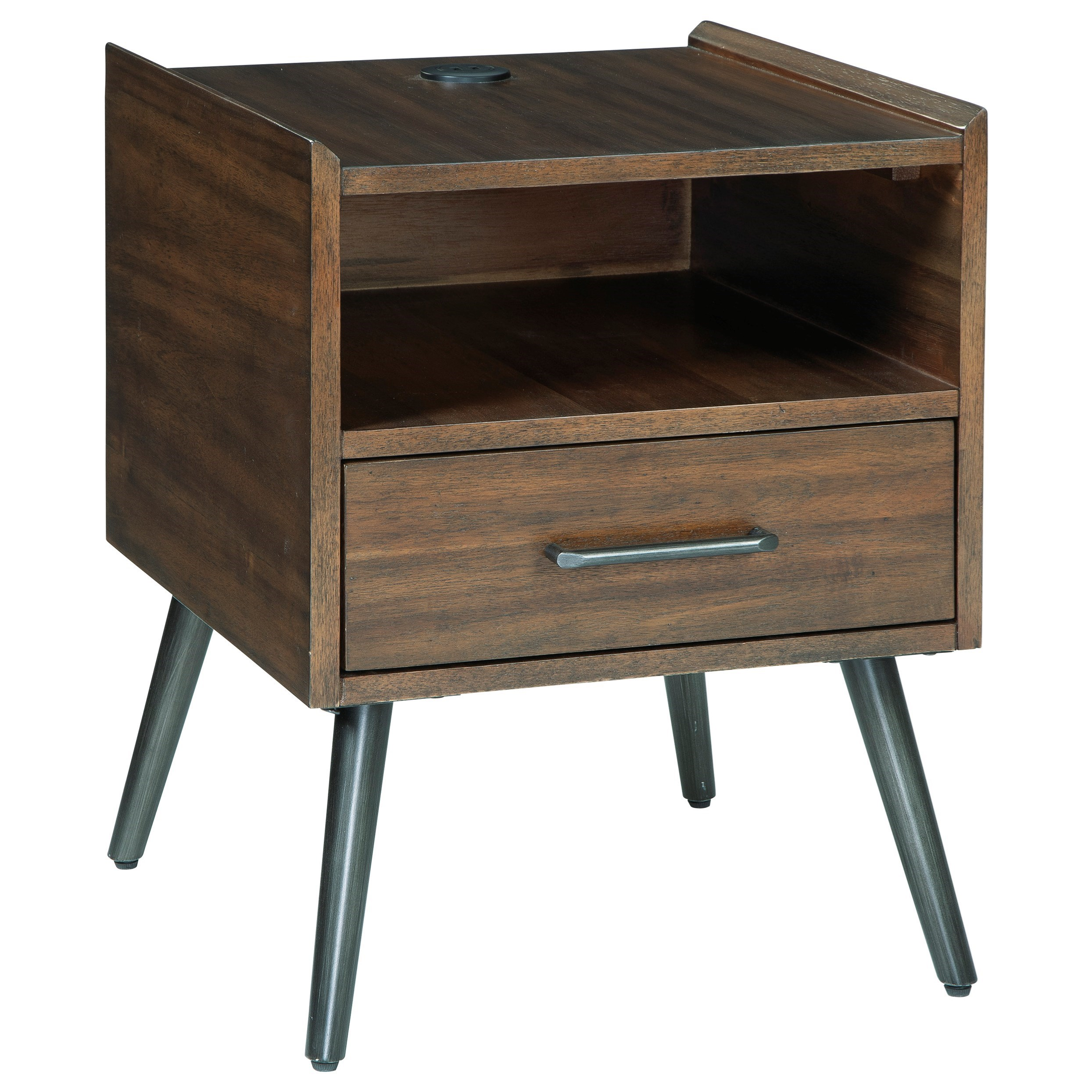 Calmoni Square End Table by Signature Design by Ashley at Standard Furniture