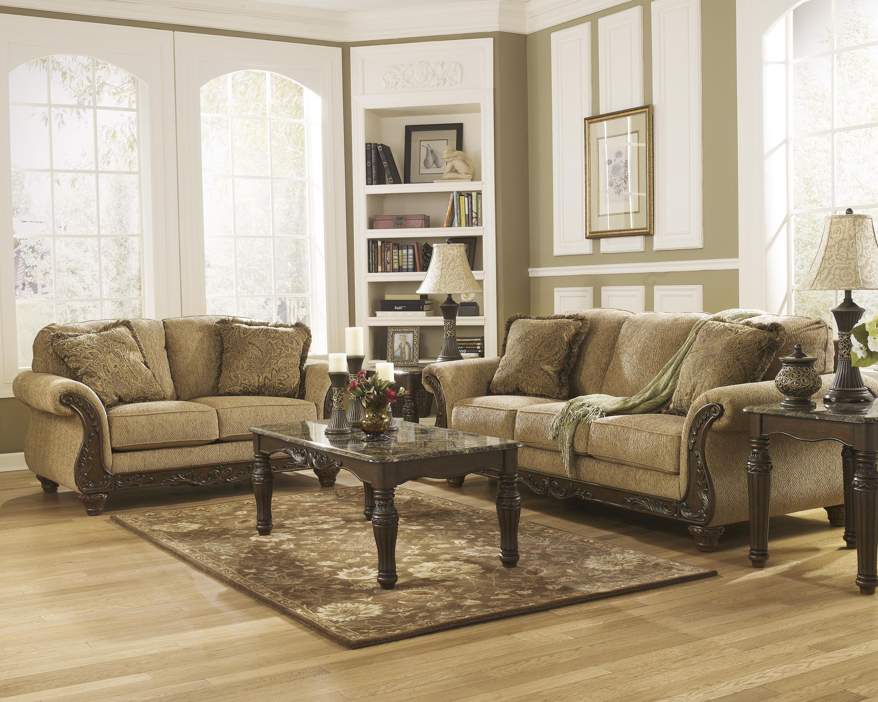 Signature Design by Ashley Cambridge - Amber Stationary Living Room Group - Item Number: 39401 Living Room Group 1