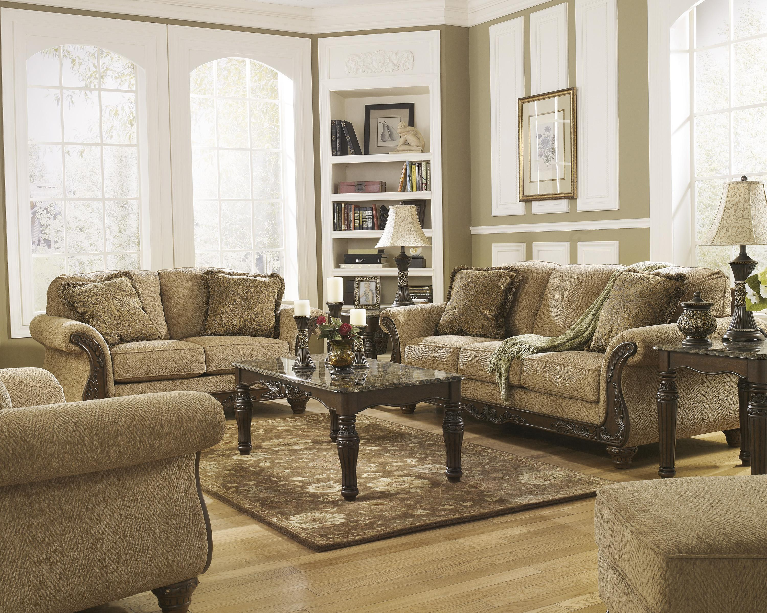 Signature Design by Ashley Cambridge - Amber Stationary Living Room Group - Item Number: 39401 Living Room Group 2