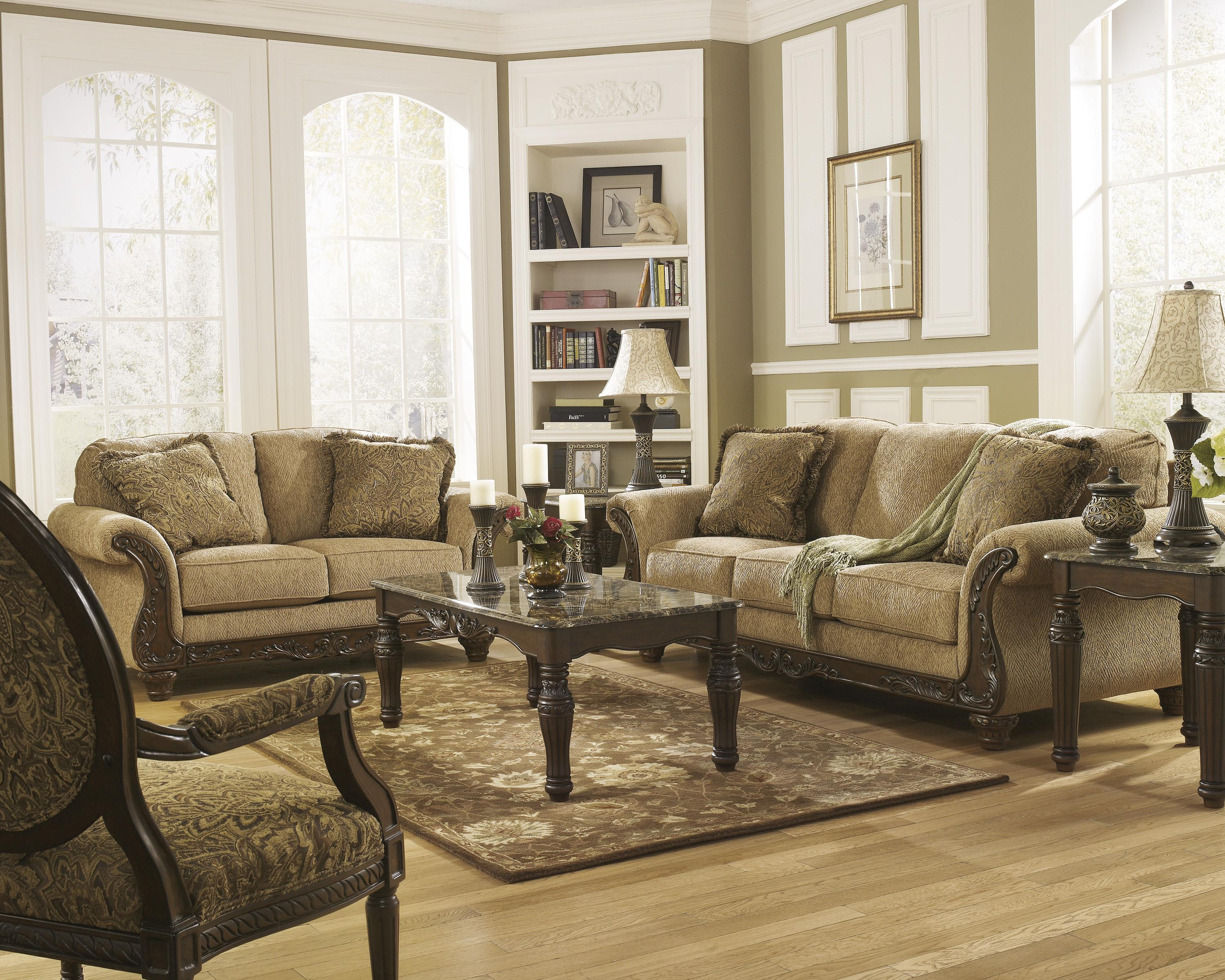 Signature Design by Ashley Cambridge - Amber Stationary Living Room Group - Item Number: 39401 Living Room Group 3