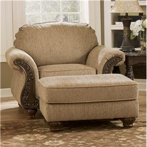 Signature Design by Ashley Cambridge - Amber Chair & Ottoman