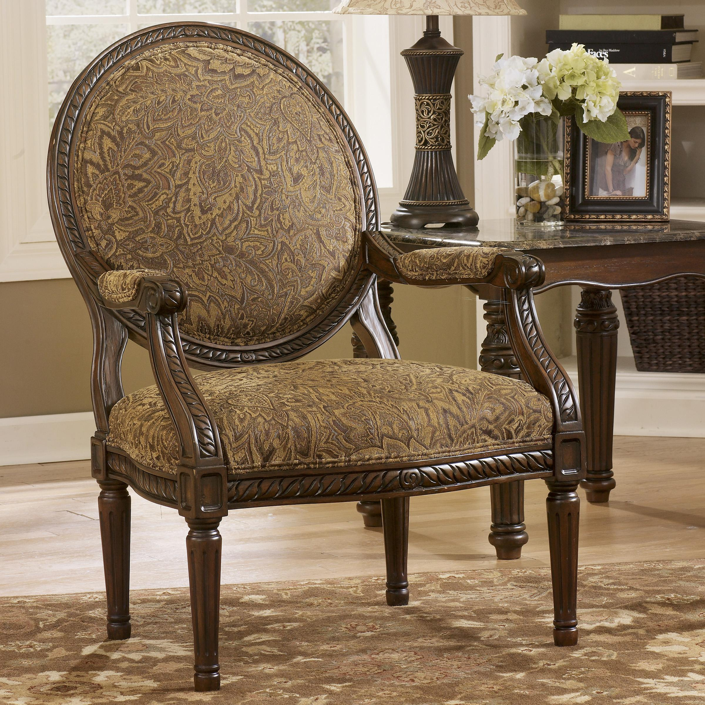 Signature Design by Ashley Cambridge - Amber Showood Accent Chair - Item Number: 3940160