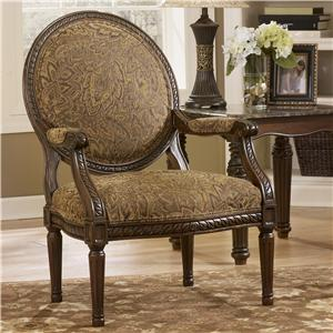 Signature Design by Ashley Cambridge - Amber Showood Accent Chair