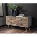 Signature Design by Ashley Camp Ridge Mid-Century Modern 4-Drawer Sofa Table