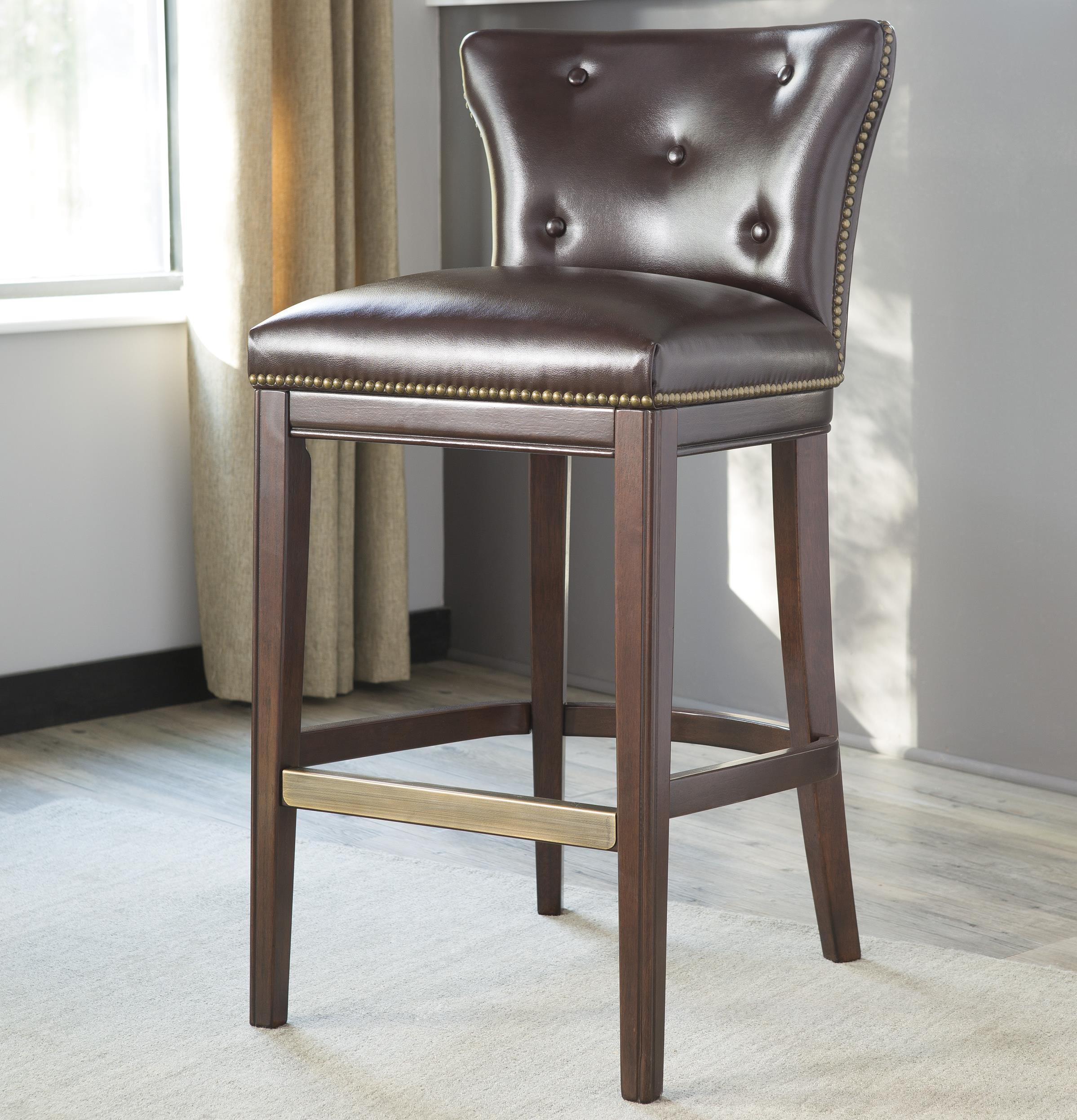 Signature Design by Ashley Canidelli Tall Upholstered Barstool - Item Number: D500-330