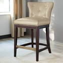 Signature Design by Ashley Canidelli White Upholstered Counter Height Stool with Low Back