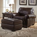 Signature Design by Ashley Canterelli Chair & Ottoman - Item Number: 9800220+14