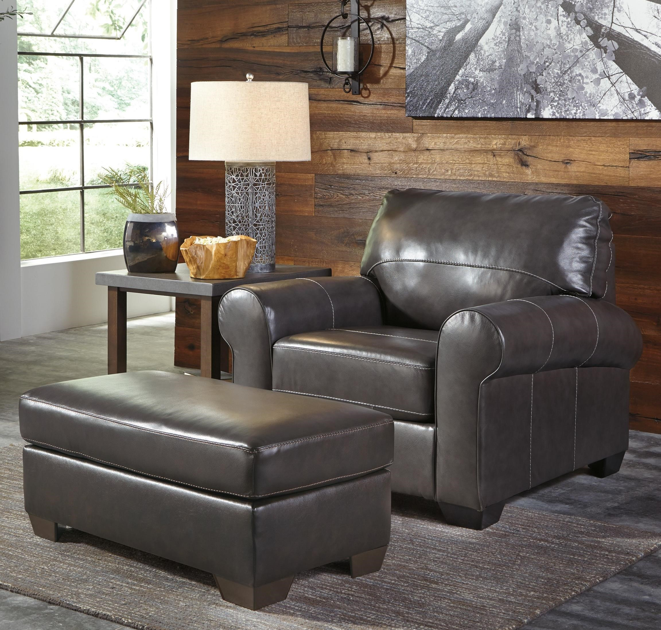 Signature Design by Ashley Canterelli Chair & Ottoman - Item Number: 9800320+14