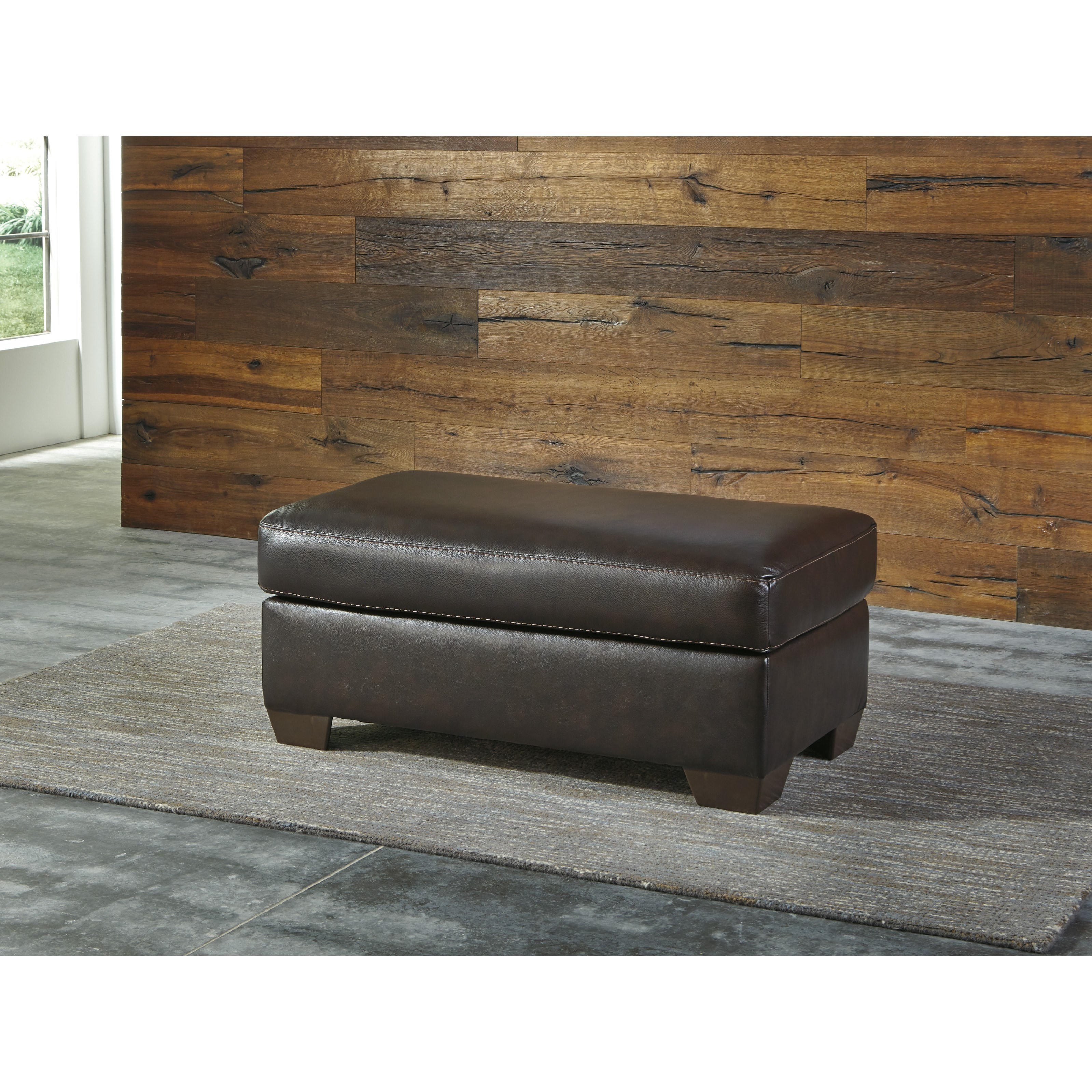 Signature Design By Ashley Canterelli Leather Match Chair Amp Ottoman Becker Furniture World