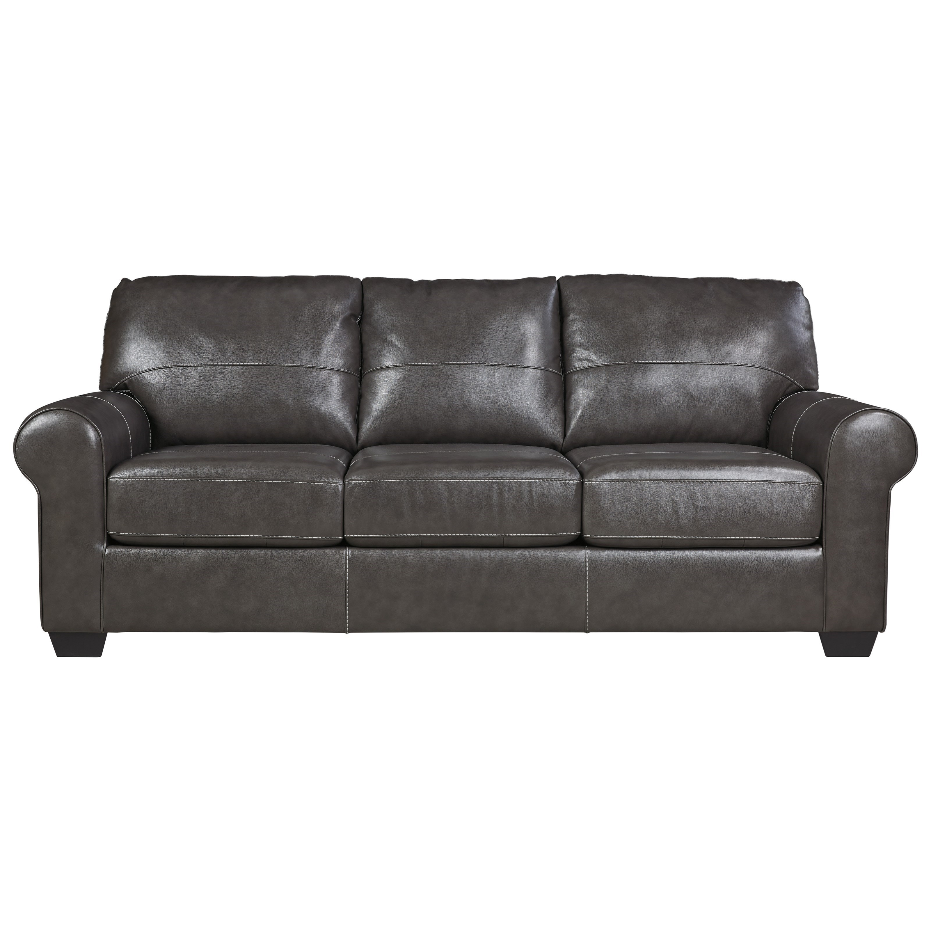 Signature Design By Ashley Canterelli 9800339 Leather Match Queen Sofa Sleeper Del Sol