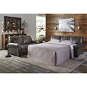 Signature Design by Ashley Canterelli Leather Match Queen Sofa Sleeper