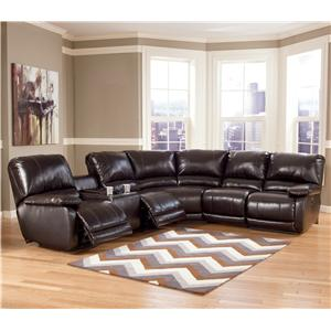 Signature Design by Ashley Capote DuraBlend® - Chocolate Power Reclining Sectional