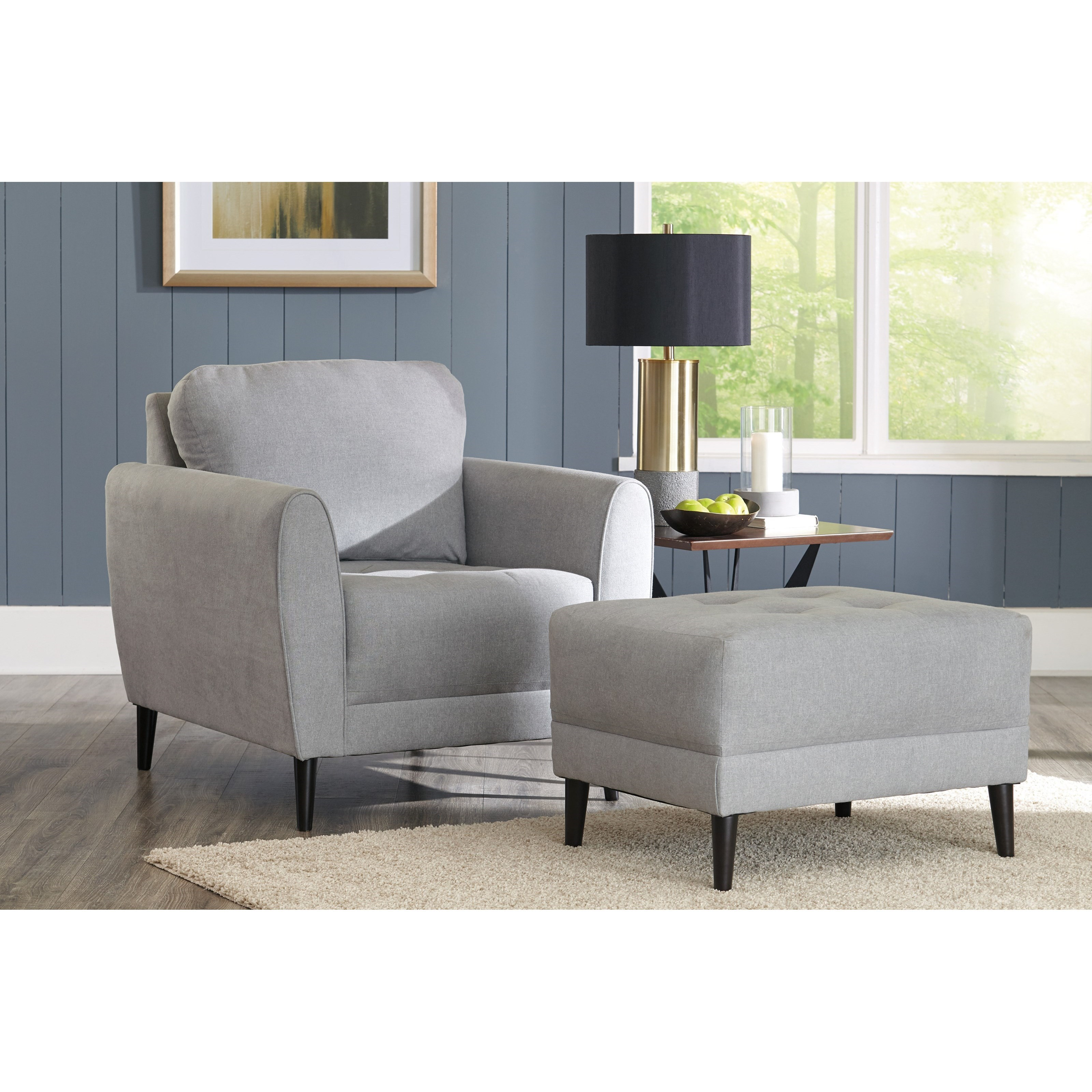 Cardello Chair and Ottoman by Signature at Walker's Furniture