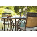 Signature Design by Ashley Carmadelia Set of 4 Outdoor Sling Chairs