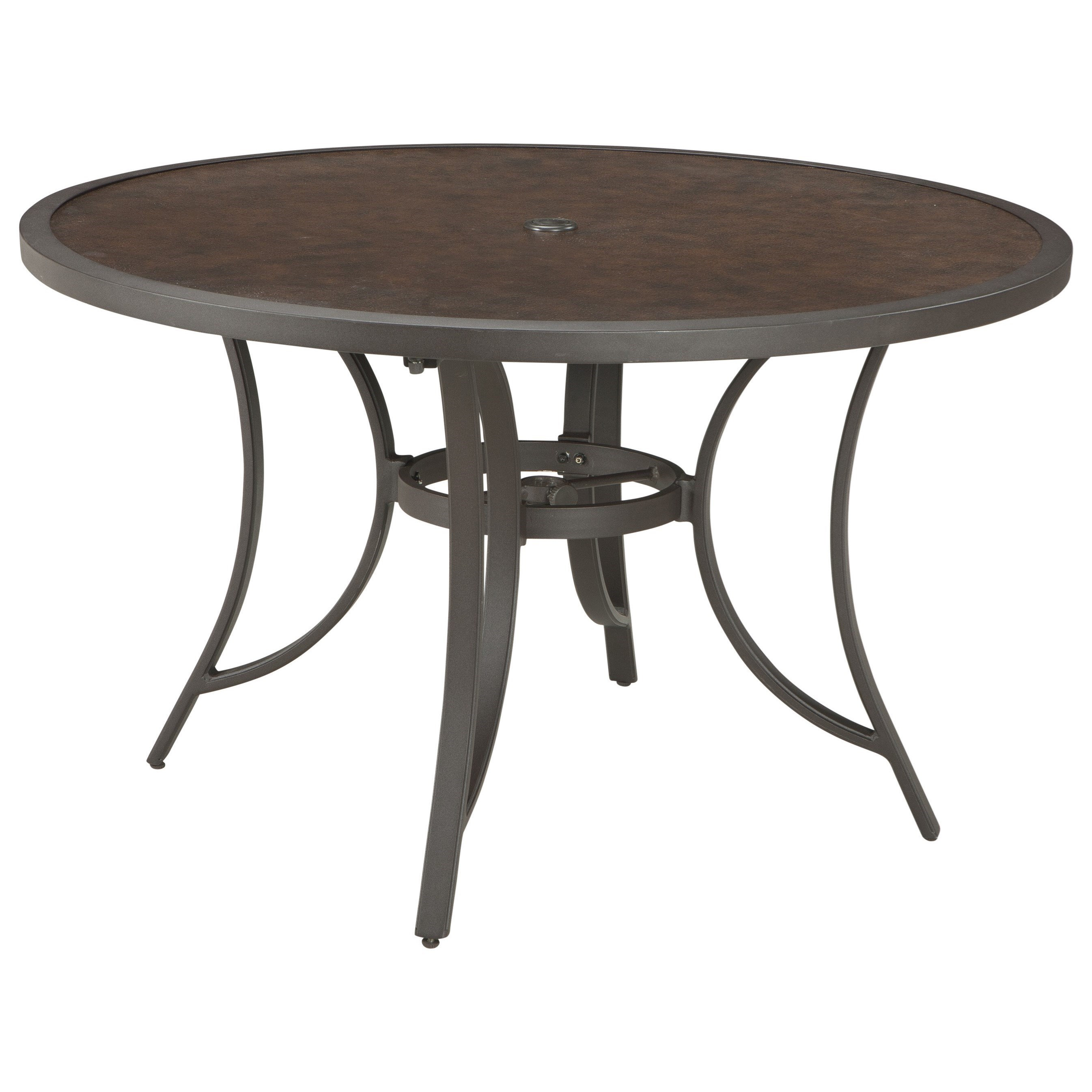 Outdoor round dining table - Signature Design By Ashley Carmadelia Outdoor Round Dining Table W Umbrella Opt Item Number