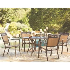Signature Design by Ashley Bay Breeze Outdoor Round Dining Table Set