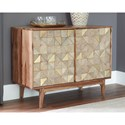 Signature Design by Ashley Carolmore Accent Cabinet with Metal Accented Doors