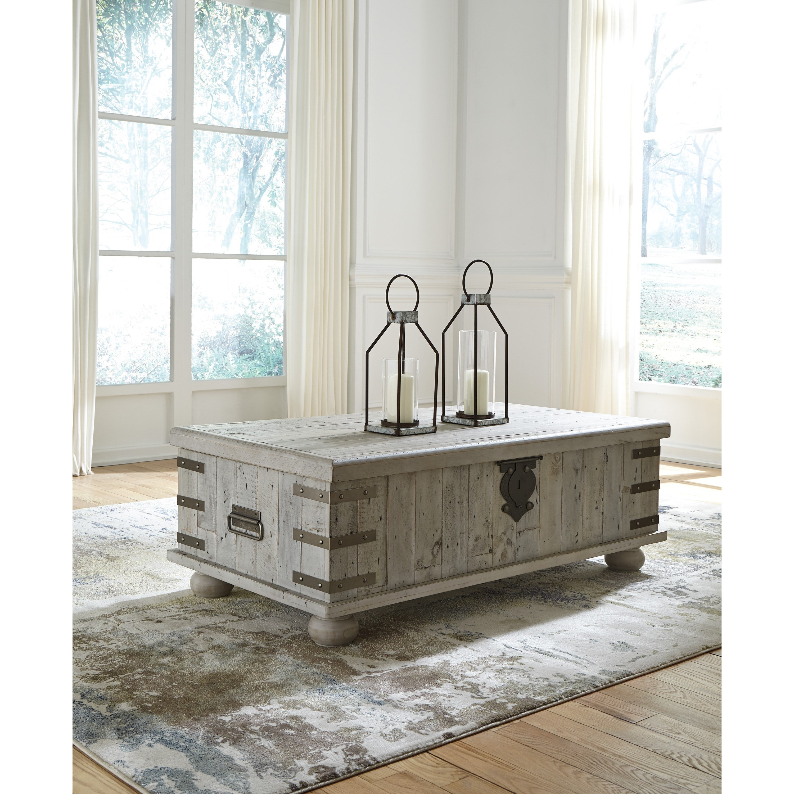 Ashley Furniture Cary Nc: Signature Design By Ashley Carynhurst Industrial Lift Top