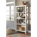 Signature Design by Ashley Carynhurst Farmhouse Large Bookcase in Whitewash Finish