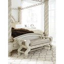 Signature Design by Ashley Cassimore Traditional Large Upholstered Bedroom Bench