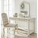 Ashley (Signature Design) Cassimore Vanity & Mirror Set w/ Upholstered Chair - Item Number: B750-22+25+01