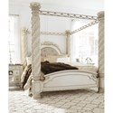 Signature Design by Ashley Cassimore Traditional King Poster Canopy Bed with Large Posts