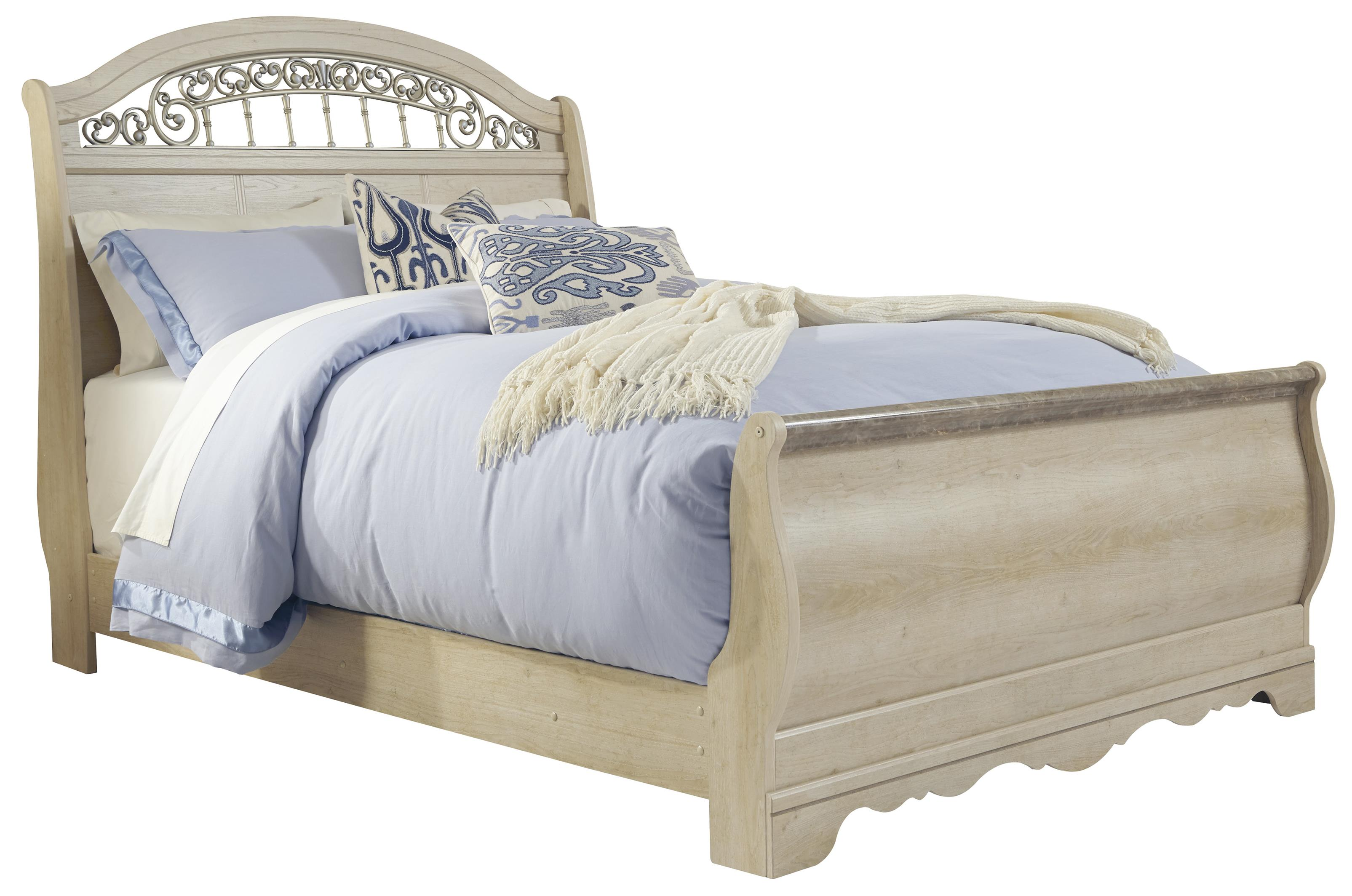 Signature Design by Ashley Catalina Queen Sleigh Bed - Item Number: B196-77+74+96