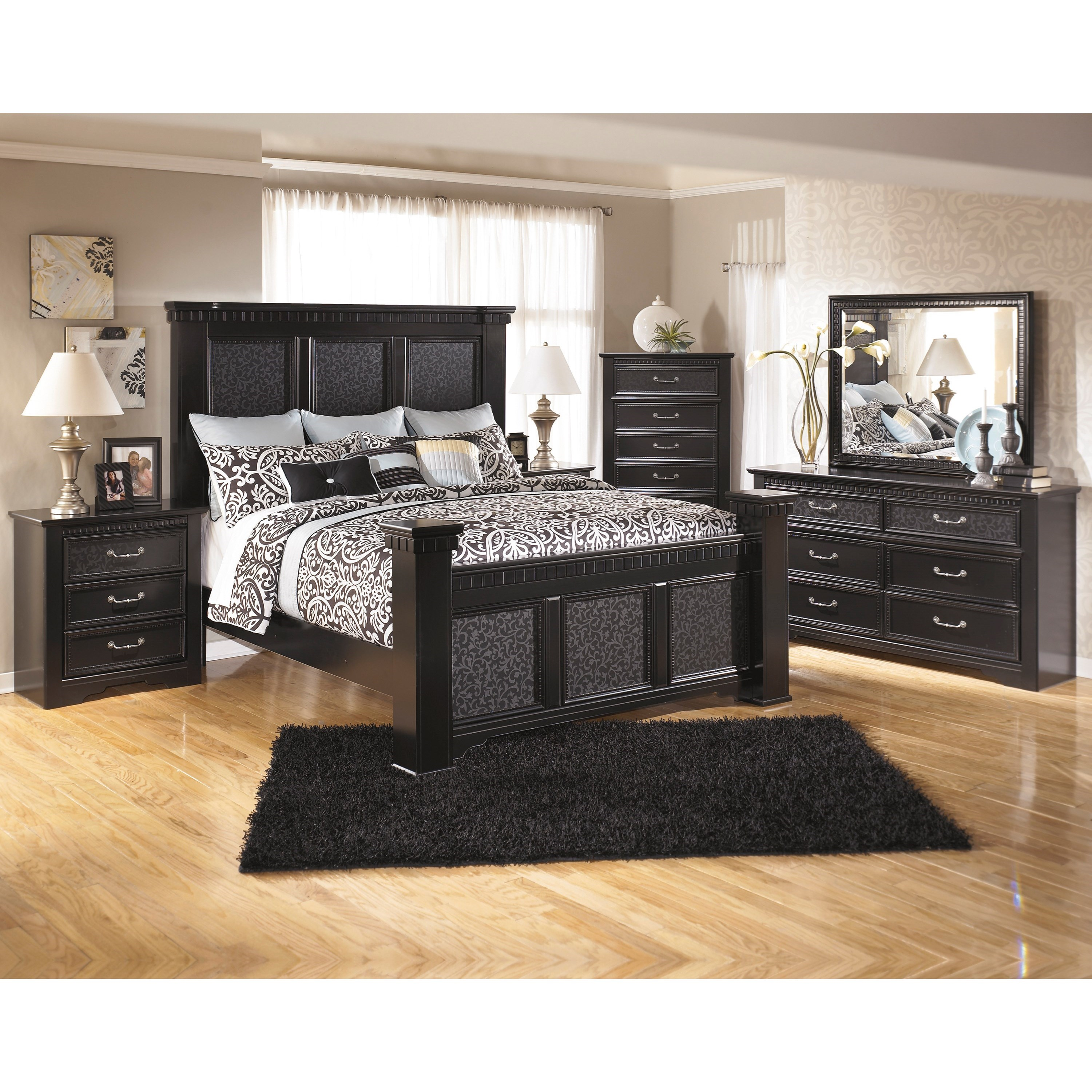 Signature Design by Ashley Cavallino California King Bedroom Group - Item Number: B291 CK Bedroom Group 3