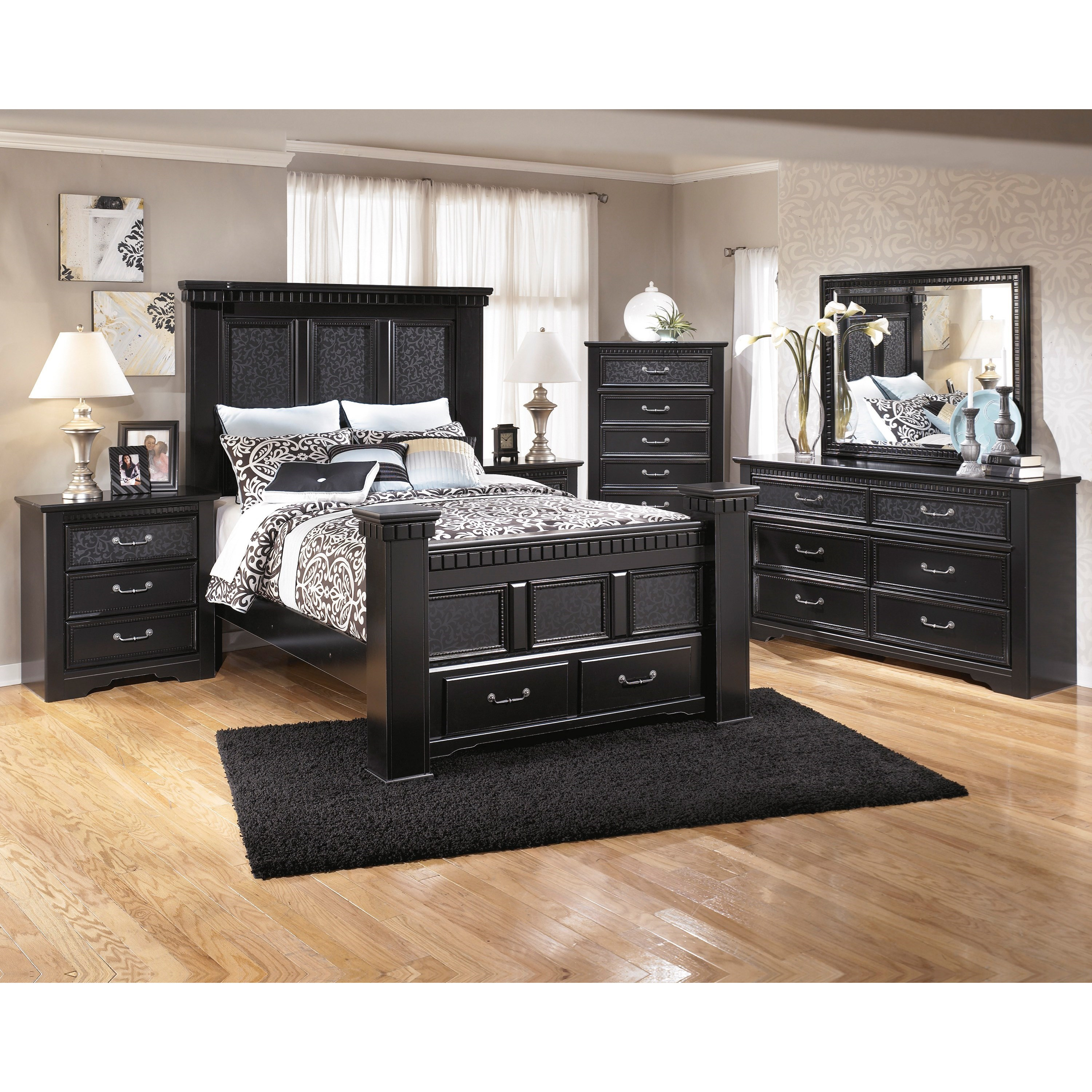 Signature Design by Ashley Cavallino Queen Bedroom Group - Item Number: B291 Q Bedroom Group 4