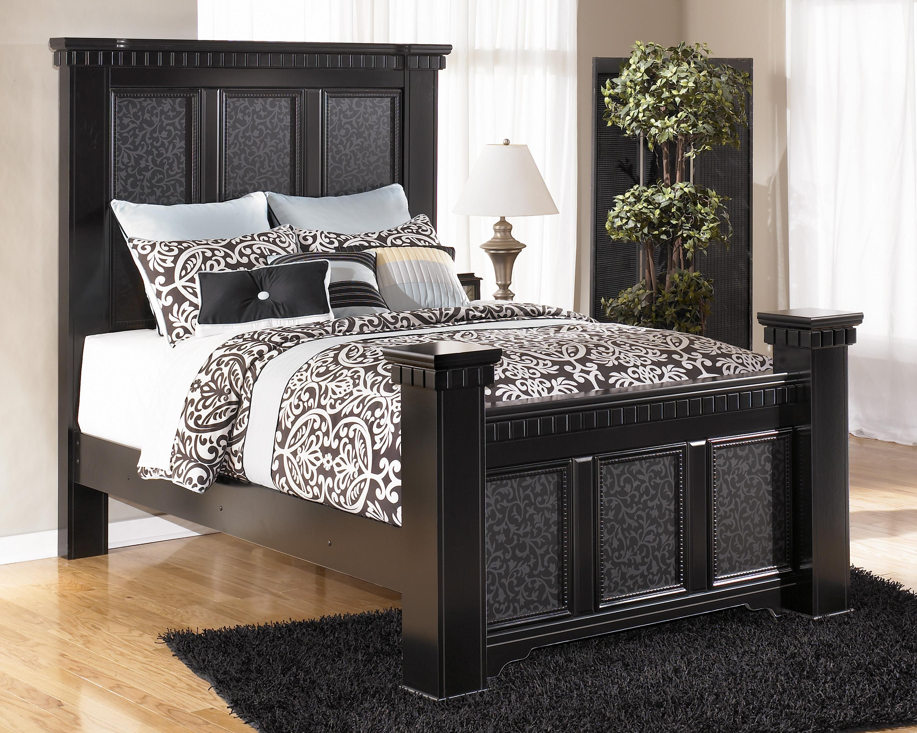 Signature Design by Ashley Cavallino Queen Mansion Poster Bed - Item Number: B291-157+164+98