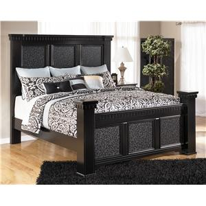 Signature Design by Ashley Cavallino King Mansion Poster Bed