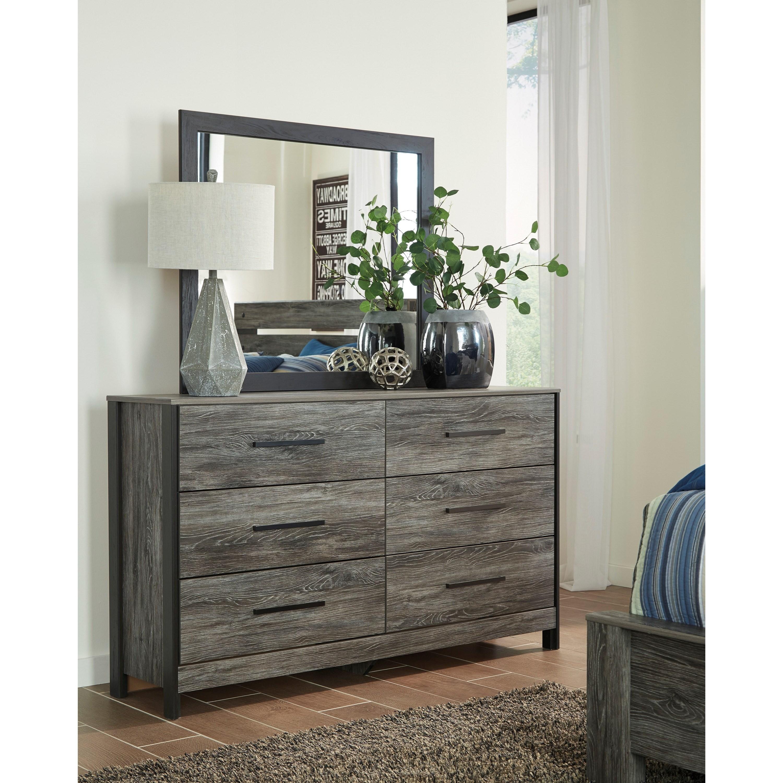 Ashley Signature Design Cazenfeld Modern Rustic Dresser