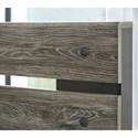 Signature Design by Ashley Cazenfeld Queen Panel Bed with Open Slat Headboard