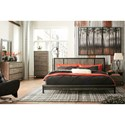 Signature Design by Ashley Cazentine Contemporary Six Drawer Dresser with Metal Base