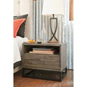 Signature Design by Ashley Cazentine Contemporary One Drawer Night Stand with Cord Management