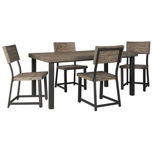 Signature Design by Ashley Cazentine 5-Piece Rectangular Dining Table Set